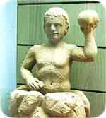 Mithras, born of a rock